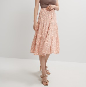 Pomarańczowa spódnica Mohito