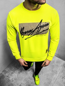 Żółta bluza ozonee.pl w młodzieżowym stylu