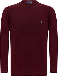Czerwony sweter Sir Raymond Tailor w stylu casual z bawełny