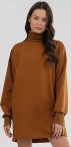 Brązowa bluzka born2be z długim rękawem