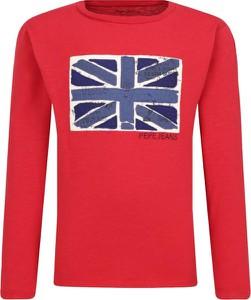 Czerwona koszulka dziecięca Pepe Jeans