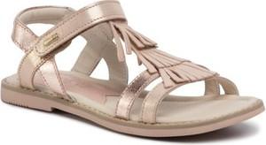 Złote buty dziecięce letnie Lasocki Young na rzepy
