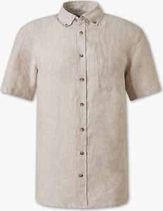 Koszula CANDA z lnu z krótkim rękawem
