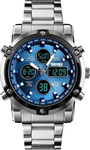 Zegarek męski SKMEI 1389 bransoleta LED niebieski