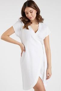 Sukienka Monnari z lnu z dekoltem w kształcie litery v