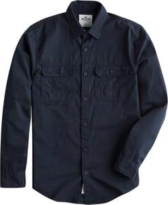 Granatowa koszula Hollister Co. w stylu casual z długim rękawem