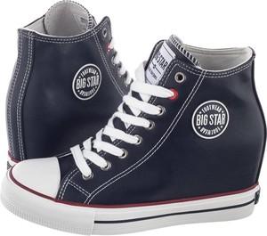 Sneakersy Big Star na koturnie sznurowane