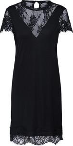 Czarna sukienka Tigha z krótkim rękawem