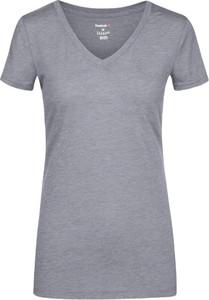 T-shirt Reebok z dekoltem w kształcie litery v w sportowym stylu z krótkim rękawem