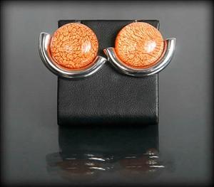 POLSKA Kolczyki przekłówki stonowany pomarańcz