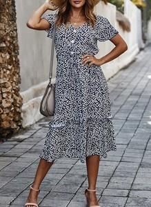 Sukienka Sandbella midi w stylu casual z bawełny