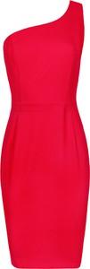Czerwona sukienka Makover z tkaniny
