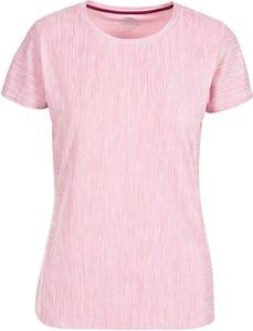 Różowy t-shirt Trespass z okrągłym dekoltem