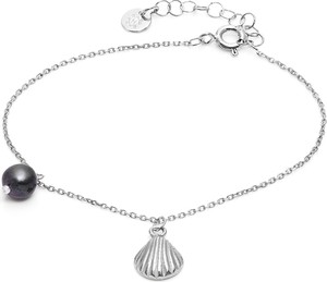 ANIA KRUK Bransoletka ARIEL srebrna z perłą i muszelką