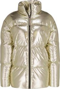 Złota kurtka Tommy Hilfiger w stylu glamour