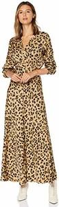Sukienka amazon.de maxi z długim rękawem z dekoltem w kształcie litery v