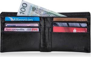 Czarny portfel męski Solier
