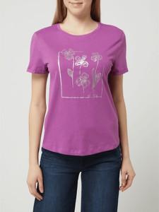 Różowy t-shirt Tom Tailor w młodzieżowym stylu z bawełny