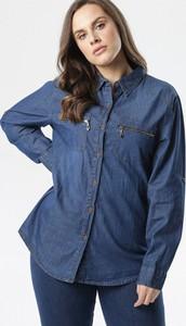 Niebieska koszula born2be z kołnierzykiem