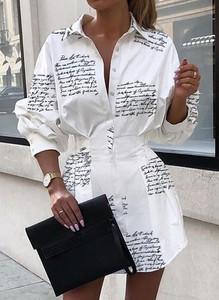 Sukienka Sandbella z dekoltem w kształcie litery v koszulowa w stylu casual