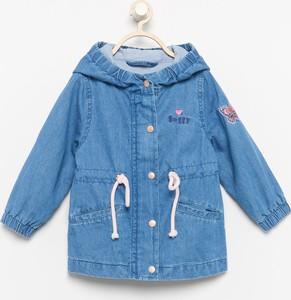Niebieska kurtka dziecięca Reserved dla dziewczynek z jeansu