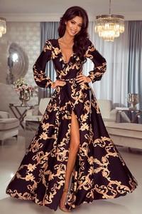 Sukienka Emo Sukienki maxi z długim rękawem z jedwabiu