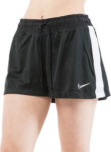 Czarne szorty Nike z tkaniny w sportowym stylu