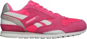 Różowe buty sportowe Reebok Fitness sznurowane