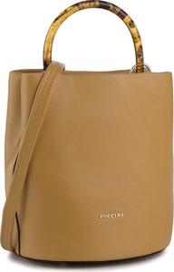 Żółta torebka PUCCINI matowa duża na ramię
