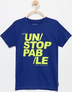Fioletowa koszulka dziecięca Reserved z krótkim rękawem