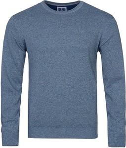 Niebieski sweter Redmond z okrągłym dekoltem w stylu casual