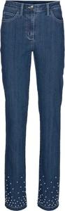 Niebieskie jeansy Heine z jeansu w street stylu