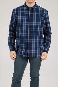Niebieska koszula Wrangler z długim rękawem z klasycznym kołnierzykiem