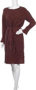 Brązowa sukienka Jc Sophie prosta mini