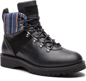 Buty zimowe Trussardi Jeans z zamszu sznurowane