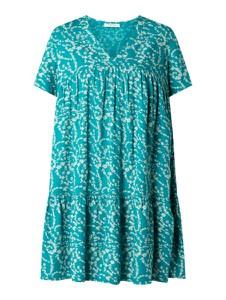 Miętowa sukienka Pieces mini z krótkim rękawem w stylu casual