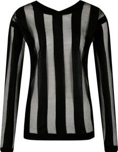 Czarna bluzka Armani Jeans z okrągłym dekoltem