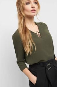 Bluzka ORSAY z długim rękawem z tkaniny w stylu casual