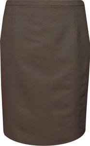 Brązowa spódnica Fokus w stylu klasycznym z szyfonu