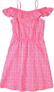 Różowa sukienka dziewczęca Tom Tailor w paseczki