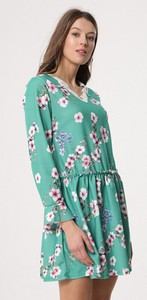 Born2be zielona sukienka sleepy petal