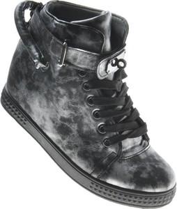 Buty sportowe Pantofelek24 w młodzieżowym stylu ze skóry ekologicznej sznurowane