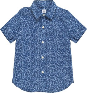 Niebieska koszula dziecięca Gap z lnu