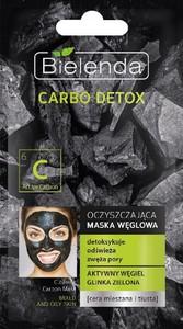 Bielenda, Carbo Detox, maska węglowa oczyszczająca, do cery mieszanej i tłustej, 8g