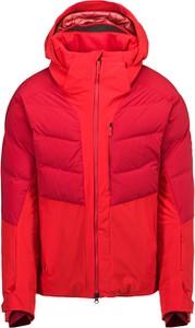 Czerwona kurtka Descente krótka z tkaniny