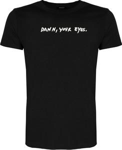 Czarny t-shirt Diesel w młodzieżowym stylu
