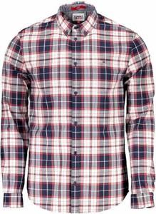 Koszula Tommy Jeans z długim rękawem z bawełny