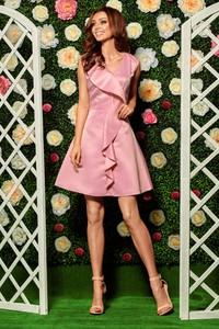 Sukienka Lemoniade z krótkim rękawem mini z dekoltem w kształcie litery v