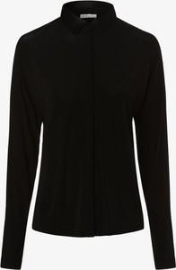 Czarna bluzka Iheart z jedwabiu w stylu casual z golfem