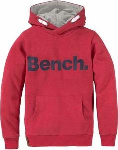 Czerwona bluza dziecięca bench z napisami